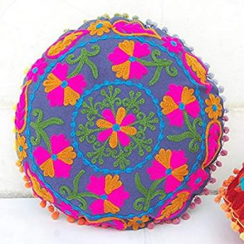 Cotton Round Cushion Cover