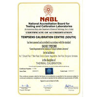 Certificate of Accreditation (National Accreditation Board for Testing and Calibration laboratories Bangalore Lab)