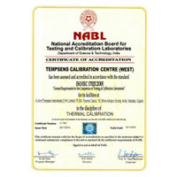 Certificate of Accreditation (National Accreditation Board for Testing and Calibration laboratories - Baroda Lab)