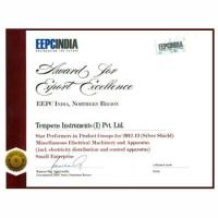 EEPC Award Certificate 2012-13  Tempsens Wins EEPC INDIA - Regional Awards (Northern)