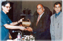 Chairman & M.D. receiving the Best Vendor Award from OPPI for the year 1998-99