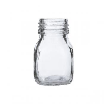 Honey Square Glass Jars