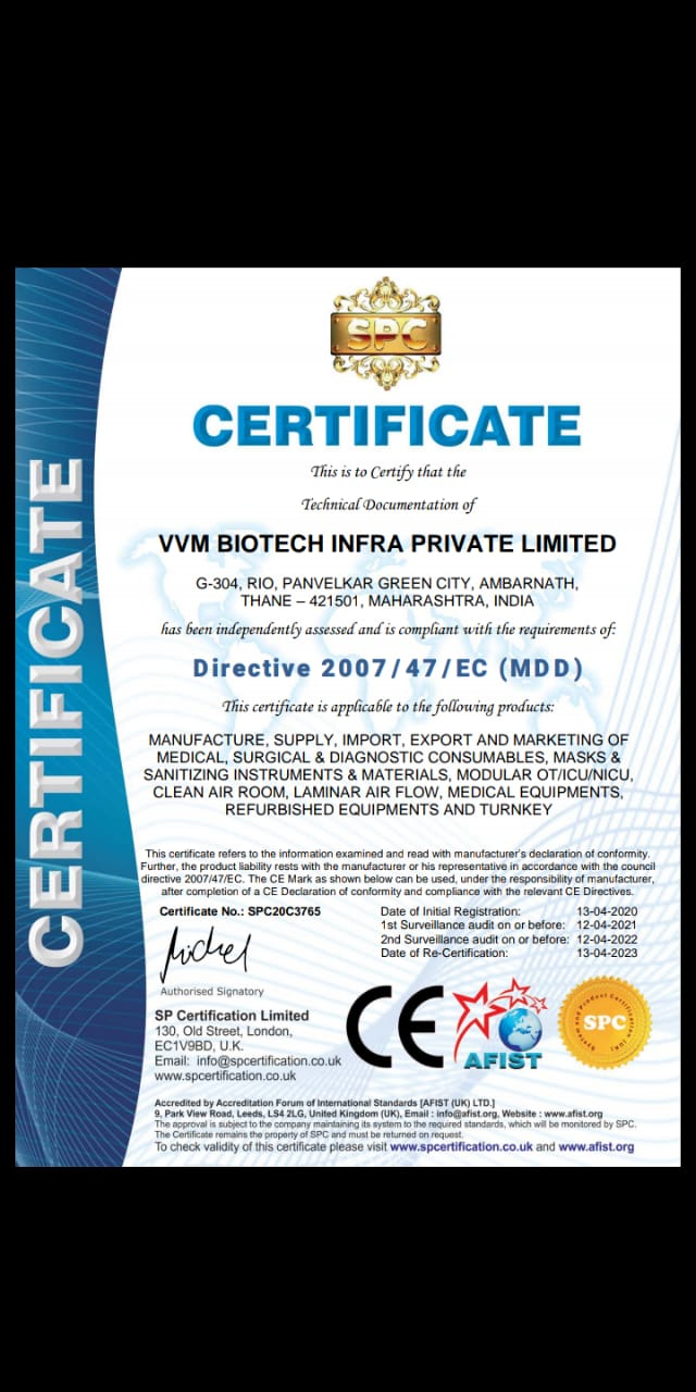 Directive 2007 Certificate