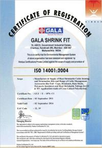ISO-14001:2004 Certificate
