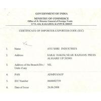 Certificate of Importer & Exporter Code