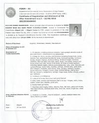 Certificate of Registration & Allotment TIN