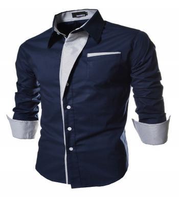 Mens Self Design Shirt