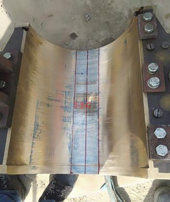 Blue Matching of a Journal Bearing During Erection