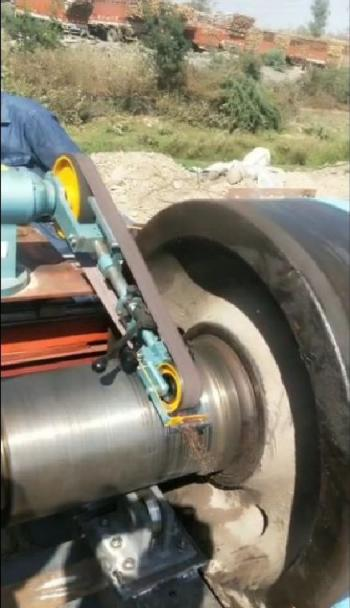 Onsite Journala Surface Grinding for Removal of Grooves