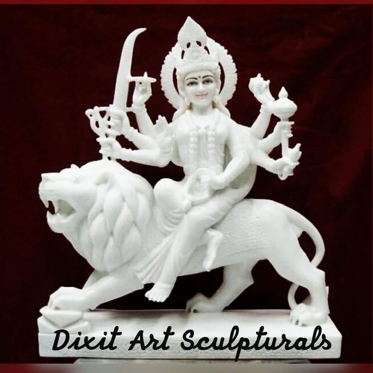 White Marble Durga Statue
