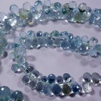 Aquamarine Faceted Beads