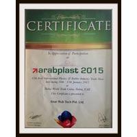 Certificate of Arbplast - 2015