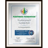 Certificate of Plastindia Foundation