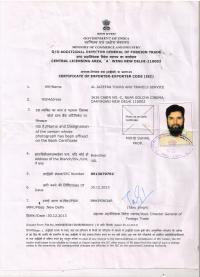Importer Exporter Certificate 2