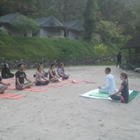 Yoga at camp Side