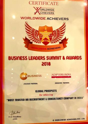 World Wide Achievers Certificate