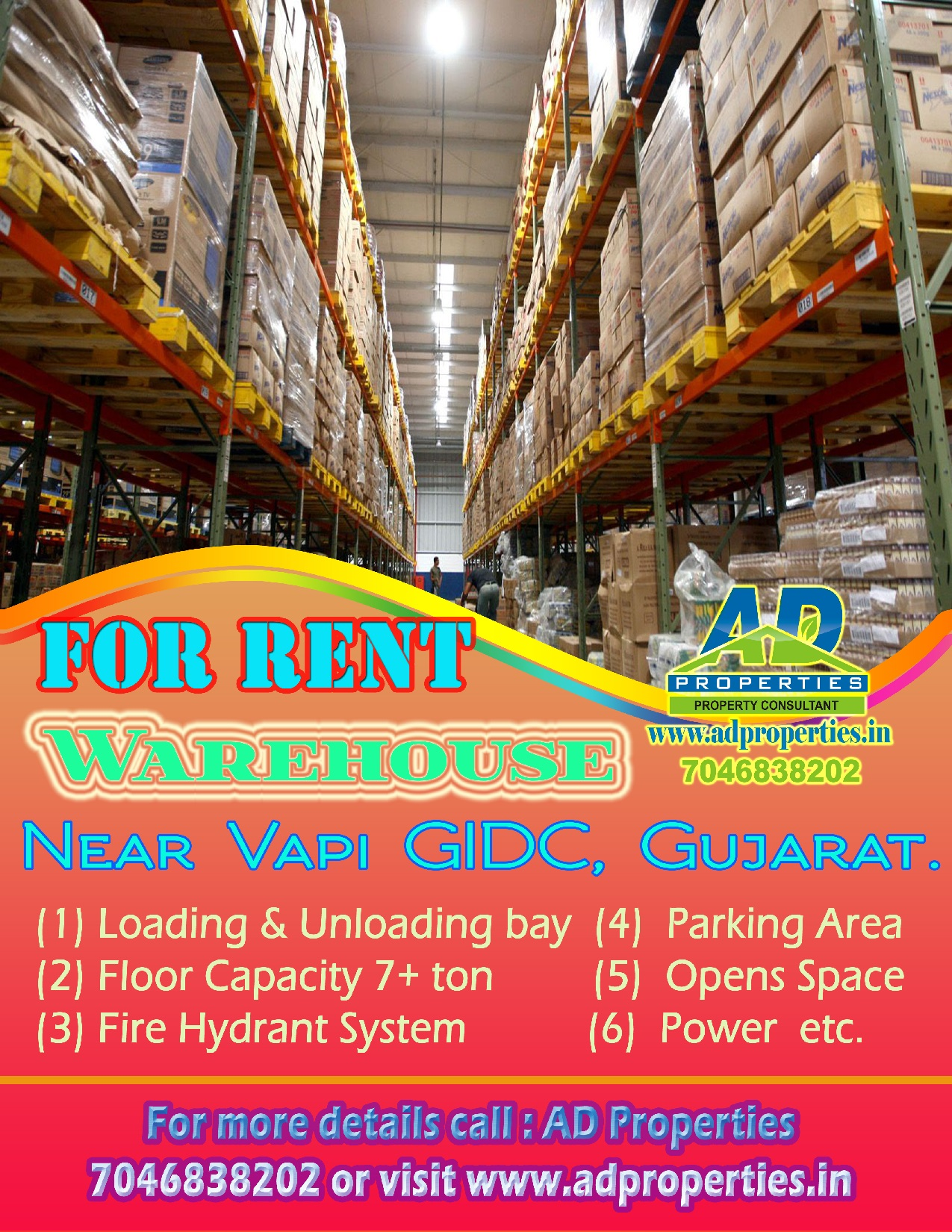 Warehouse for RENT at Vapi GIDC